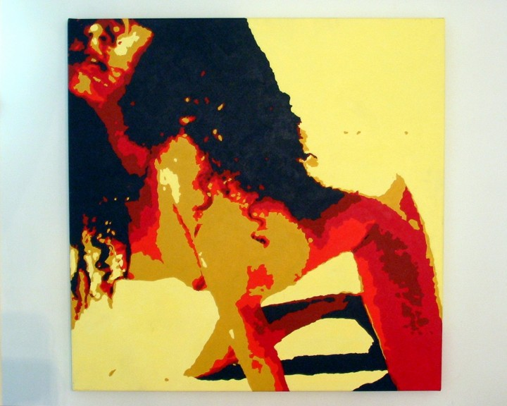 Yellow Woman (acrylic on canvas) 2002