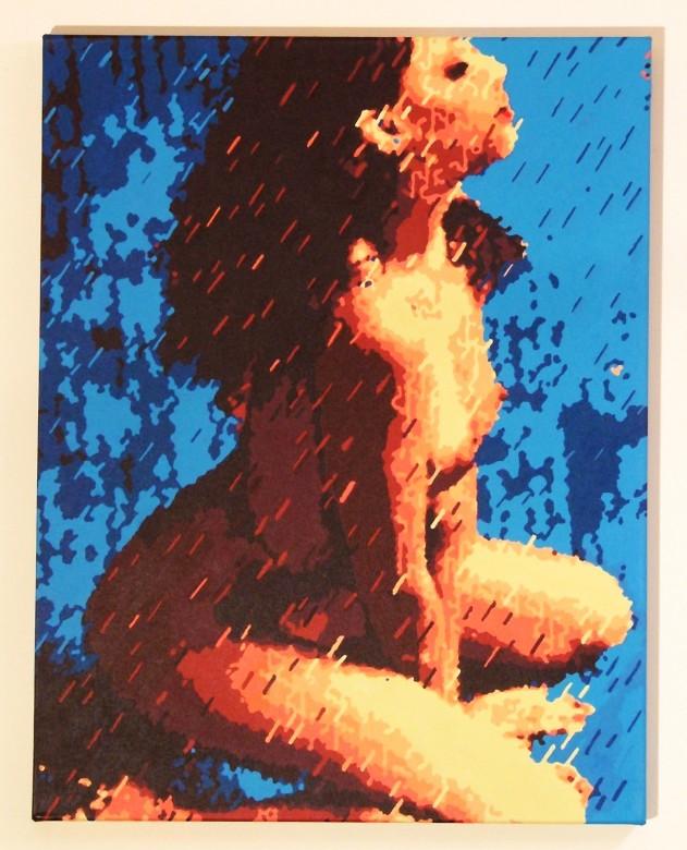 Rain Woman (acrylic on canvas)