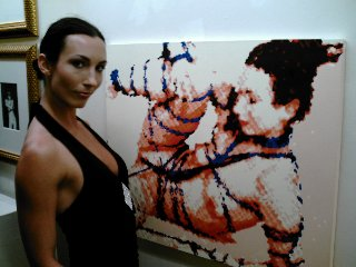 Winona Poses with herself at MOCA-DC Erotica 2008