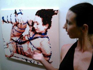Winona Poses with herself at MOCA-DC Erotica 2008