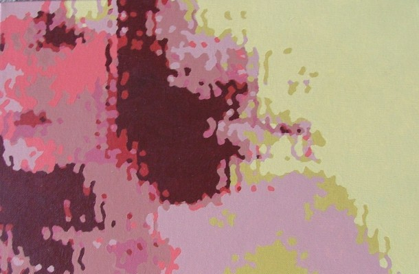Janis (acrylic on canvas) (detail)