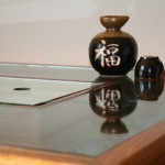 Half-inch thick glass top