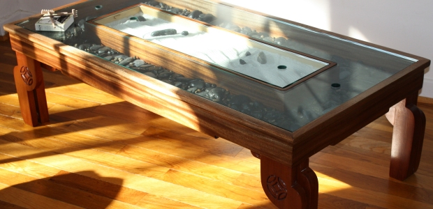 Zen garden coffee table feat 01 the fine art of vincent for Table zen garden