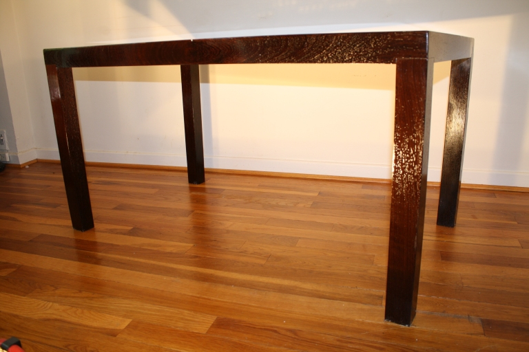 3-inch solid wenge legs